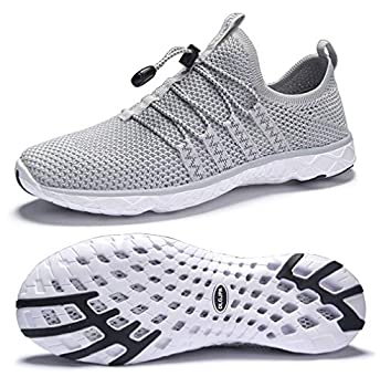 DLGJPA Men s Quick Drying Water Shoes for Beach or Water Sports Lightweight Slip On Walking Shoes