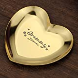 TJ.MOREE Best Grammy Ever Gift Ring Dish Decorative Trinket Plate for Grandma, Grandma Gifts for Grammy from Granddaughter and Grandson - Grammy, First Grandma