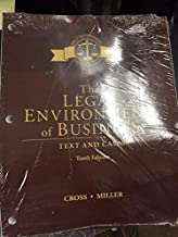 The Legal Environment of Business: Text and Cases, Loose-Leaf Version