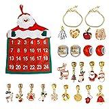 Easy-topbuy 2020 Navidad Adviento calendario de cuenta atrás DIY accesorios pulsera pulsera Charms pulsera pulsera pulsera pulsera exquisito conjunto para niñas