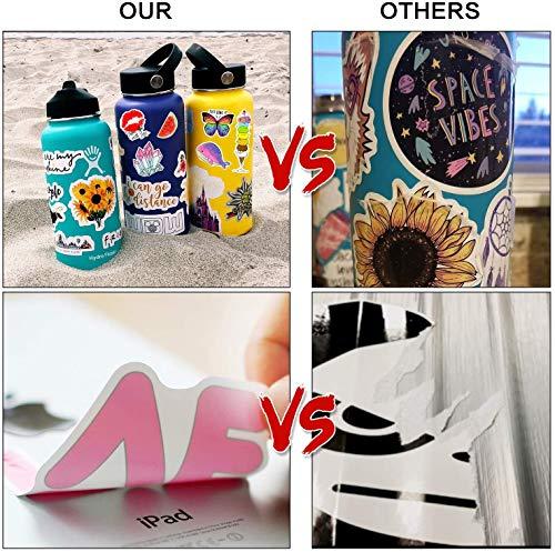 5 Stück schöne Aufkleber Packung, wasserdichte Aufkleber für Wasserflaschen, Skateboard, Flasche, Laptop, Handy, Helm für Teenager, Erwachsene, Graffiti-Aufkleber, extra langlebig, 100% Vinyl