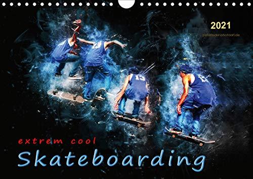 Skateboarding - extrem cool (Wandkalender 2021 DIN A4 quer)