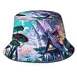 Stylish Home Sombrero unisex reversible plegable para hombres y mujeres, sombrero de setas para la playa, pescador, sombreros de doble cara reversibles