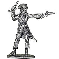 キャプテン ジャック・スパロウ、パイレーツ・オブ・カリビアン、ジョニー・デップ。金属の彫刻。コレクション54mm(1/32スケール)ミニチュアフィギュア。ブリキおもちゃの兵隊