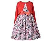 Bonnie Jean Girls' Special Occasion Cardigan Dress Set (2T, Coral)