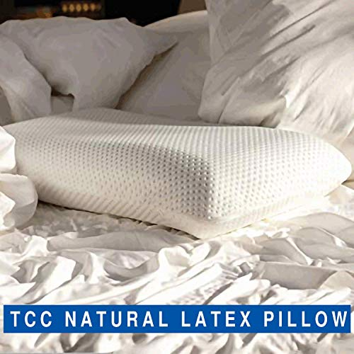 The Cushion Company- All Natural Latex Pillows for Sleeping, 15x24 inch, Bamboo Cover