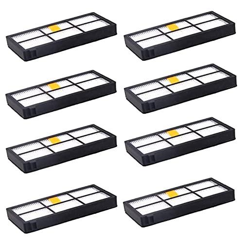 Partes de repuesto para aspiradora 8 paquetes de filtros HEPA reemplazo para IRobot fit para Roomba 800 900 Series Accesorios 805 860 870 Aspiradoras Accesorios