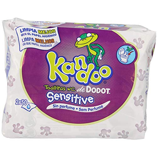 KANDOO toallitas wc sensitive envase 100 uds