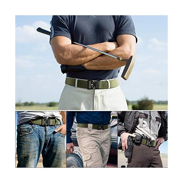 51 6UlLsr7L. SS600  - AivaToba Cinturón Táctico para Hombres Cinturón de Seguridad Cobra Militar Resistente de Nylon con Hebilla Metálica de…