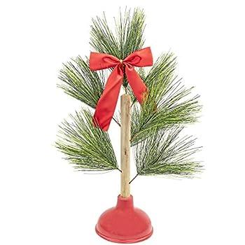 Fairly Odd Novelties Redneck Plunger Christmas Tree Funny Toilet Humor Holiday Gift
