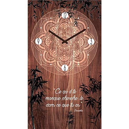 Zen et Ethnique Pendule Citation 50 cm Ce qu'il Te Manque