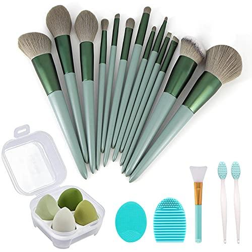 Makeup Brushes 22 Pcs Makeup Kit,Foundation Brush Eyeshadow Brush Make up Brushes Set (Green, Regular)