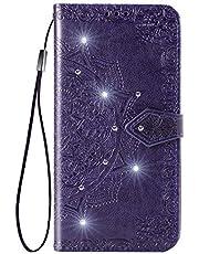 Hoesje voor Xiaomi Redmi 6Pro Wallet Book Case, Magneet Flip Wallet Slim Beschermende Telefoonhoes met Kaarthouders slots Robuuste schokbestendige Bookcase voor Xiaomi Redmi 6 Pro / Mi A2 Lite - JESD031645 Purper