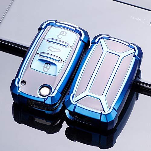 HanT Carcasa de Llave de Coche Carcasa de Llave de Coche, para Volkswagen VW Magotan B8 Polo 9n Golf 4 3 5 6 6r 7 Mk7 Mk4 Passat B5 B6 B7 B8 Touran Bora Tiguan Jetta Lavida