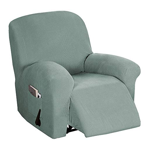 BellaHills Verstellbarer Sofabezug 1-teilig, rutschfest, weich, hochelastisch, Lycra-Jacquard, Schonbezug, formschlüssig, Möbelbezug Verstellbarer Sofabezug, maschinenwaschbar - Salbei