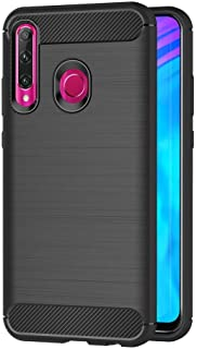 MaiJin 対応ファーウェイ Huawei P Smart Plus 2019 / Honor 10i (6.21インチ) 衝撃吸収 ケース スリム 軽量 炭素繊維TPU保護カバー (ブラック)