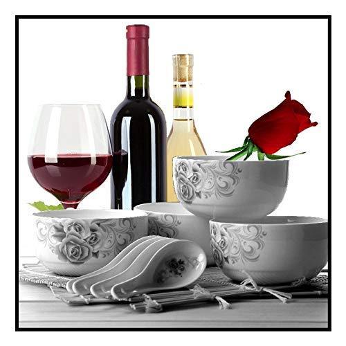 baodanla Geen frame Klassieke saffloer wijn print thuis decor Scandinavische canvas muur kunst foto woonkamer Scandinavische kunst decoratie