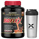 Allmax Isoflex 100% Whey Protein Isolate with Shaker Bottle, Chocolate, 5lbs