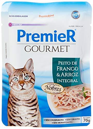 Ração Úmida Premier Gourmet para Gatos Sabor Peito de Frango e Arroz Integral, Premier Pet, 70g