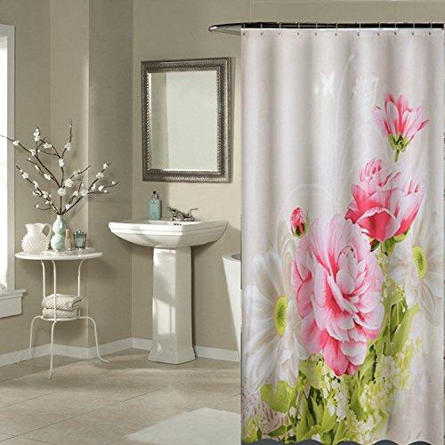 Polyester gedruckte dicken wasserfesten Badezimmer Dusche, Gardinen, Vorhänge, Gardinen, partition Schimmel, 180cm breit & 200cm hoch *
