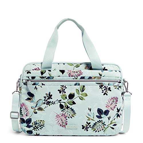 Vera Bradley Performance Twill Slim Laptop Organizer, Seawater Blooms