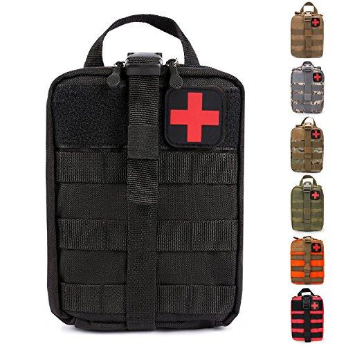 Pochette de sauvetage IFAK de premiers soins médicaux tactiques MOLLE Rip-Away EMT