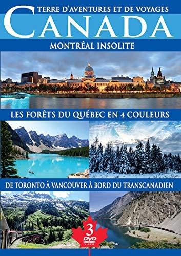 Canada : Montréal insolite + Les forêts du Québec en 4 couleurs + De Toronto à Vancouver à bord du Transcanadien [Francia] [DVD]