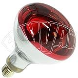 LAMPADA INFRAROSSI 150W ROSSA E27 / RISCALDAMENTO PULCINI E ALTRI...