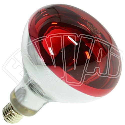 LAMPADA INFRAROSSI 150W ROSSA E27   RISCALDAMENTO PULCINI E ALTRI ANIMALI