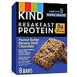 KIND Breakfast Protein Bars, Gluten Free, Non GMO, 1.76 Oz, Peanut Butter Banana, 32 Count