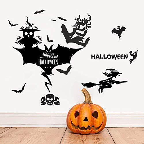 Pegatinas De Pared Owl Skeleton Ghost Halloween Adesivi Murali A Tema Per Negozio Decorazione Per La Casa Fai Da Te Adesivi Per Finestre Festival Muro Vinile Murale Arte