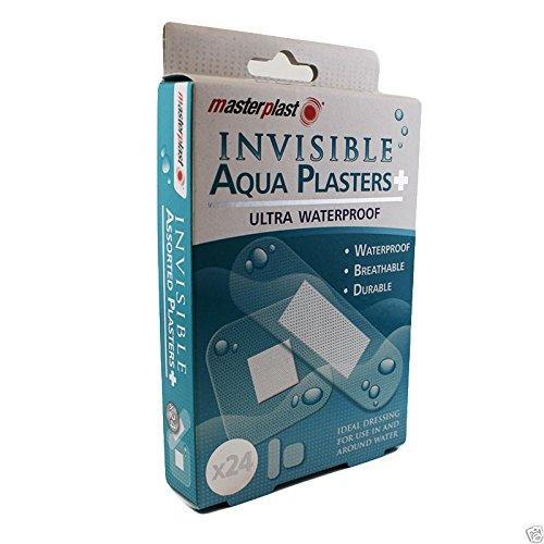Masterplast Pflaster, unsichtbar, wasserdicht, dauerhaft, für Erste Hilfe, 24Stück