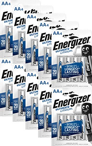 40 batterie Energizer Ultimate al litio, micro, AA, 3000 mAh, L91, 1,5 V
