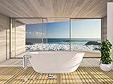 Oedim Fotomural Vinilo para Pared Paisaje Ventanas con Vistas al Mar | Mural | Fotomural Vinilo Decorativo |350 x 250 cm | Decoración comedores, Salones, Habitaciones