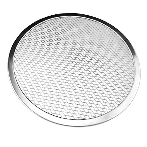Pizzascherm met ronde mazen Bakken met dunne korst Gaas Aluminium draadpan Pizzabakgereedschap, 7 inch