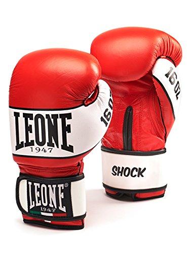 Leone 1958 Shock Boxhandschuhe Boxhandschuhe, Unisex - Erwachsene, Rot, 8OZ