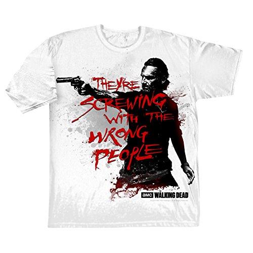 Walking Dead Wrong People T-Shirt Horror Zombie TV Fan Shirt unisex Baumwolleolle schwarz - XXL