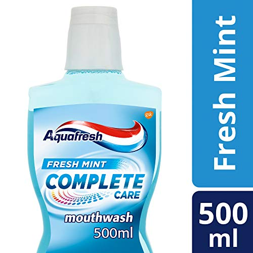 Aquafresh Complete Care Mouthwash with Fluoride, Fresh Mint, 500 ml