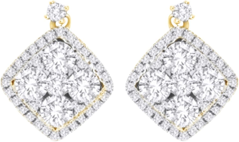 Ohrstecker, mit Diamant-Ohrringe 14Karat 585WeiGold, 1,1Karat