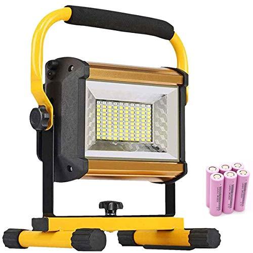 Projecteur LED 100W, projecteur de travail portable, projecteurs rechargeables, niveau 3 à intensité variable, flash de secours rouge et bleu, 13200mAh, 8000LM, éclairage de camping extérieur pour co