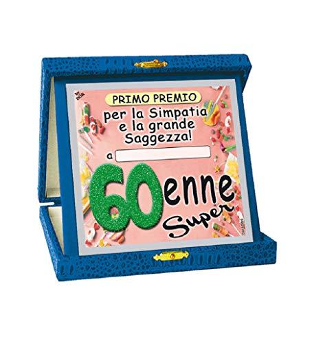 TARGHETTA Trofee 60 JAAR Gadget cadeau-idee 60° verjaardag bord bord