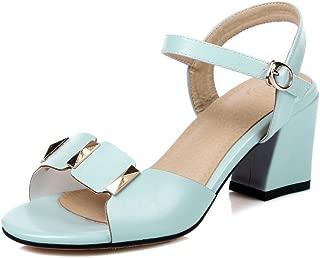 BalaMasa Womens Solid Dress Fashion Urethane Sandals ASL05461