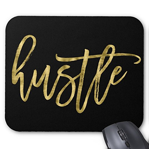 UOOPOO Black And Gold Hustle Mouse Pad Rectangle Non-Slip Rubber Personalized Mousepad Gaming Mouse Pads 8.2 x 10.2 x 0.12 Inch(Pattern: Print)
