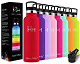 HoneyHolly Vacuum Insulated Stainless Steel Water Bottle, Bpa Free Reusable Sport Bottles 350/500/600/750/1000ml