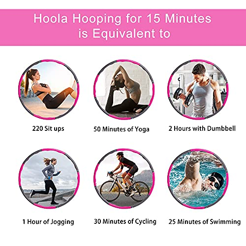 FASHLOVE Hula Hoop, Slim Hoop for Adults and Children for Weight Loss and Massage, Folding Fitness Wave 1kg Width 95cm, Foam Padded Slimming Ring Weight Loss Gift For Women