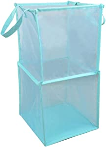 XXF Clothes Hampers  Portable Mesh Laundry Hampers Durable Handles Collapsible for Storage And Easy Open Are Great for The Kids Room College Dorm Travel