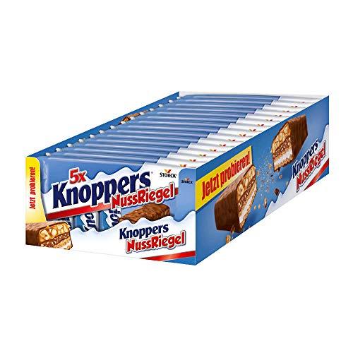 Knoppers NussRiegel – der erste Riegel auf Knoppers Art – 5er Packung (5 x 200g Packung)