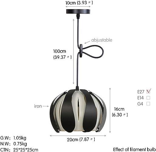 AWSW Lustre Nordique de Lustre créateur Lampes suspendues de personnalité Lampe à Suspension Moderne Feux pendentifs Minimaliste Rose de Chambre Lampe Pendentif à Coucher à tête Unique nera