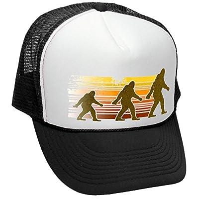 The Goozler Sasquatch Walking - Funny Retro Vintage Style - Unisex Adult Trucker Cap Hat