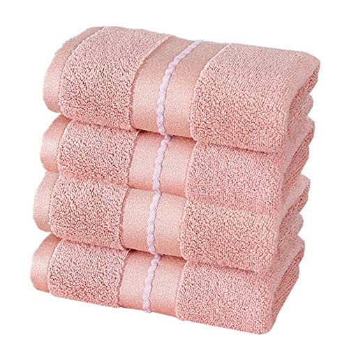 DLRBWAN Toallas de baño, Conjunto de Toallas de Secado rápido 100% algodón, 4 Piezas/Conjunto de Toallas de Hotel Bordadas, Conjuntos de Toallas de baño Suave para el hogar